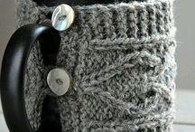 knitting crocheting mug cozy coffee