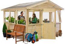 Serres en bois / serre de jardin en bois #serre #bois #jardi #jardinage