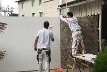 Fassaden - Tapeten / Aussenbereichsgeeignete Tapeten