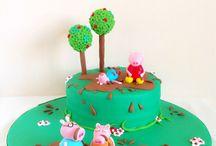 Tarta Peppa Pig/Peppa pig Cake / www.memcakesandcookies.com