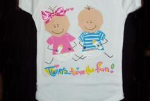 Twins Clothing for Babies / Twin clothing for babies in rompers, t shirts etc. Tell the world they are twins!