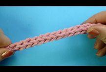 шнурочки крючочком
