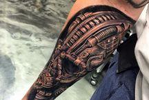 3D arm tatoo
