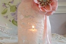 Decorative jar glass candle