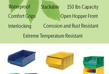 Green Compost Bin DIY / Want to save the environment and create rich, nutrient filled soil for your vegetable or flower garden? Go green with a diy compost bin. Recycle household waste and have an all natural alternative to expensive chemical fertilizer. Add worms for even better soil. Material Flow's plastic bins can store soil safely by being rot, rust and extreme temperature resistant.