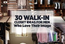 A Gentlemen's Walk-In Closet / The perfect walk-in closets for gentlemen