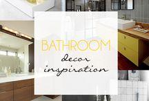Bathroom Decor Inspiration / A collection of inspiring decor ideas for you Bathroom.