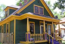 Dare To Be Different!:) / Your home has character with its style, ornamentation and colour. While the adornment comes with the house, choosing an exterior paint color is up to you! For some this is an exciting chore, while others the thought is daunting. Brightly Painted Exteriors Of Homes...