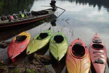 Khao Sok kayaks / These are the touring kayaks that we use on our Khao Sok National Park trips.  They are short and very stable, making them excellent wildlife-spotting platforms. They are not fast, but they are comfortable