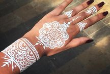 Henna / Amazing white henna design