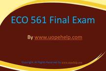 ECO 561 Final Exam Latest University of Phoenix