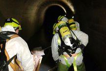 ESPACIOS CONFINADOS / Servicio de limpieza, inspección y reparación de redes de alcantarillado visitable.
