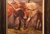 Ragan Gennusa / Authorized dealer for Ragan Gennusa giclee reproductions and limited edition prints. Gennusa is well known for his longhorn paintings, some of which have been special commissions for the University of Texas, and his horse images. Wild turkeys are also one of Gennusa's favorite subjects. Working mostly on commission, the artist very much enjoys visiting ranches throughout Texas and learning about their history, which has fostered his interest in Western and Native American themes.