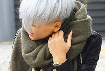 Weißes Haar