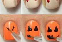 ongles pour Halloween