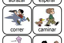 Tarjetas con verbos