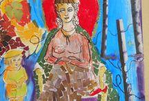Art is everywhere. / Sanatsal çalışmalar...Sanat ve yine resim...