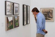 """Exposición """"Paisajes de Granada 2013"""" / Se recogen obras de los becarios de paisaje de la #Fundación de la promoción 2013."""