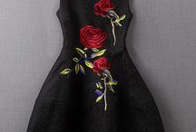 rose embroidered