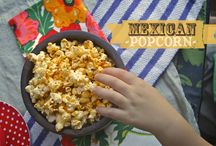 Eat: Popcorn / Flavored popcorns, some sweet, some savory, all snackable.