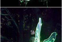 led fibre optic fairy wings.