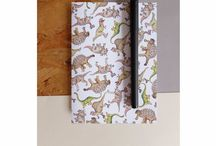 ⭐️ Notebooks | Merri Illustration | Stationery + Gifts / These fun pocket size notebooks are created from 100% recycled paper + feature the Merri Dinosaur print  Each colourful printed notebook cover is flexible + contain 36 smooth white paper pages for you to fill with endless written notes + drawings, they are ideal to keep with you in a bag or pocket for when you need due to their small + compact size | Details |  Journal Size: A6  300gsm Recycled Cover  36 plain 90gsm paper pages  Simple + durable stapled book spine