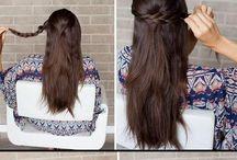Half Hair Updo Straight