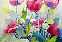 Joy: Watercolors / Flowers painted in watercolors capture a quality in nature