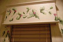 Window Treatments-Painted on / Custom painted window treatments