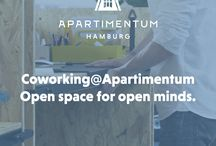 Coworking@Apartimentum / Apartimentum offers Coworking now. With a seating capacity of up to 30 our Open Space office close to the Alster is ideal for inspired and synergetic collaborations. Book your Coworking Space now http://apartimentum.com/sites/coworking.html.