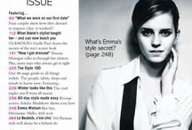 contents page for magazine