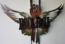 3D Metal Sign Art / These intricate signs are 3D and plasma cut for a very special look and effect. Take the ordinary and make it extraordinary.