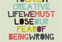 Words on creativity