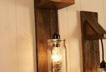 lámparas casa de campo