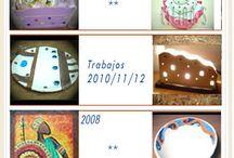 Pasta Cerámica sin horno / Objetos decorativos realizados entre 2005 y 2013 con mi producto Pasta cerámica sin horno Titina's Ahora no lo estoy fabricando, pero comenzaré a vender y trabajar con la Pasta cerámica de Propart que es la única que se parece a la mía.