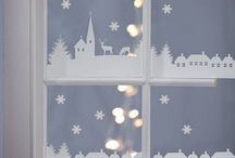 Décoration des fenêtres à Noël