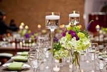 Simple Wedding Table Centerpieces and Ideas / Sometimes simple makes more of a statement.  These are just a few ideas
