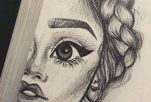 Kresby a maľby