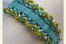 aB-did Bracelets with Tila, Brick & Other Shaped Beads / by I'm Loving Beads Nancy Gound