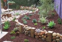Gabion rock retaining wall