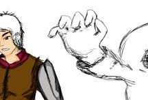 Desenhos / desenho referencias art animes