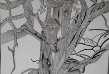 illustration (arbre à l'encre de chine)