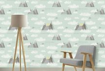 Interiors // Removable Wallpaper / I am loving the wallpaper trend right now, and with all the removable options there's no commitment:) Amazing option for a baby nursery or kids room!
