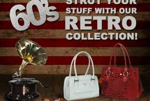 Go back in time with our fab 60s collection! / Bring back the 60s spunk with our fab new range of accessories! Functional, durable and oh-so-cute these goodies will have you swingin' So get in the groove and strut your stuff! Available Exclusively at: www.baggit.com