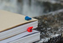 handmade papers / A range of handmade papers and hand-bound books .