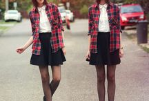 // F A L L // / Being it rebellious or  that preppy schoolgirl look, plaids and tartans is a must have!