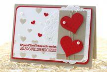 Hochzeit Karte in rot