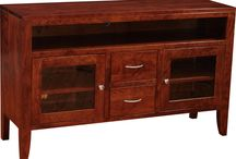 Amish TV/Entertainment Stands / There is a wide selection of TV Stands to choose from in many different wood species and finishes.  Wall units, wall consoles, as well as, corner stands.  These are just some of what is available.