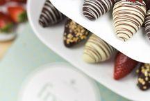 Świeże owoce w czekoladzie