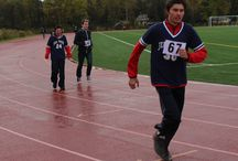 Four Corners Muskoka-2014 Track and Field / These awesome athletes braved another cold and rainy outdoor meet! Congrats to everyone who participated! Thanks to Conroy Park in Huntsville for hosting us! — at Town of Huntsville, Muskoka, Ontario.